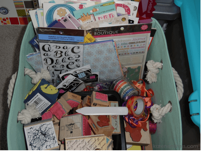 Craft room items being donated stamps etc