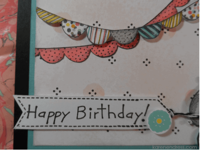 handmade birthday card hippo cycle