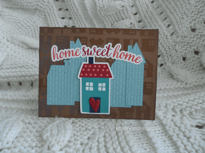 Hand made congratulations card home sweet home