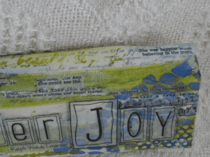 hand made mixed media canvas scatter joy affirmations