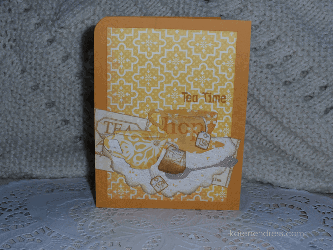 Hand made coffee & tea card tea time