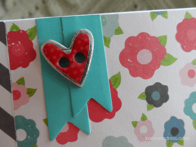 hand made hello card floral hello friend detail